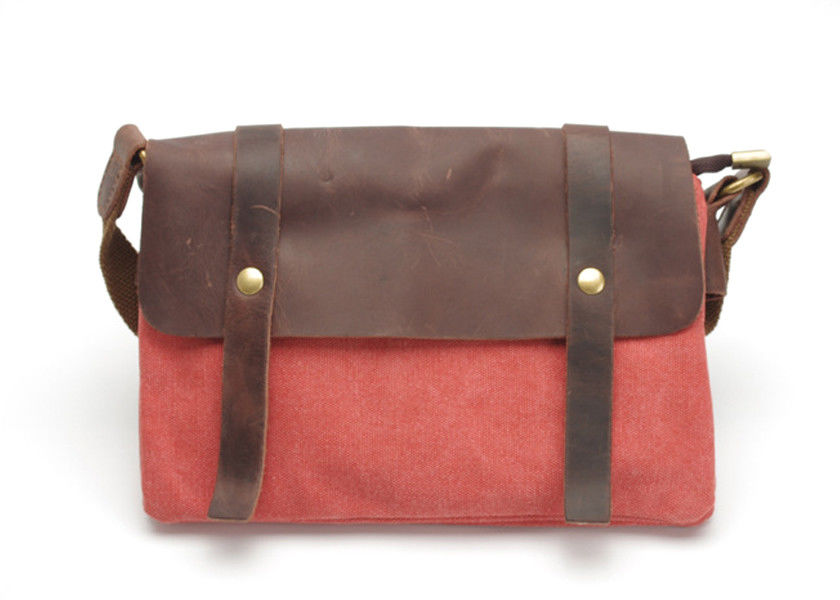 Vintage Style Leather and Canvas Bags Satchels Mens Canvas Bags