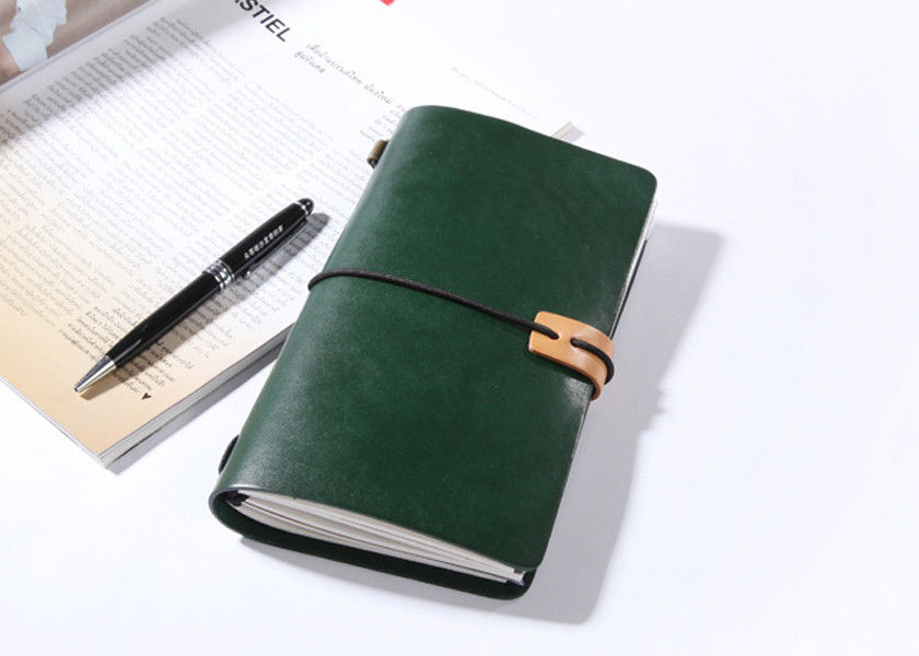 N52-L Green Vintage Leather Notebook Fashionable Leather Writing Journals