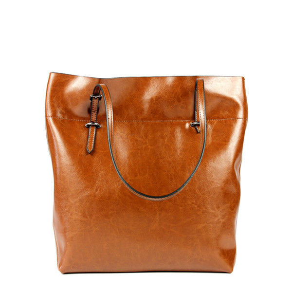 Excellent Womens Icons Leather Shoulder Bag Brown  04634001  Leather Handbags