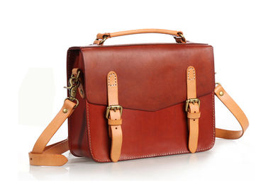 Brown Vintage Handbags for Lady Leather Briefcase Leather Satchel Bag