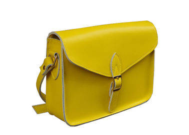 LH-33-2 Yellow Classical Messenger Genuine Leather Handbag for Lady