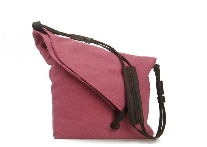 Wholesale Canvas Handbags Folded Design Waxed Canvas Messenger Bag