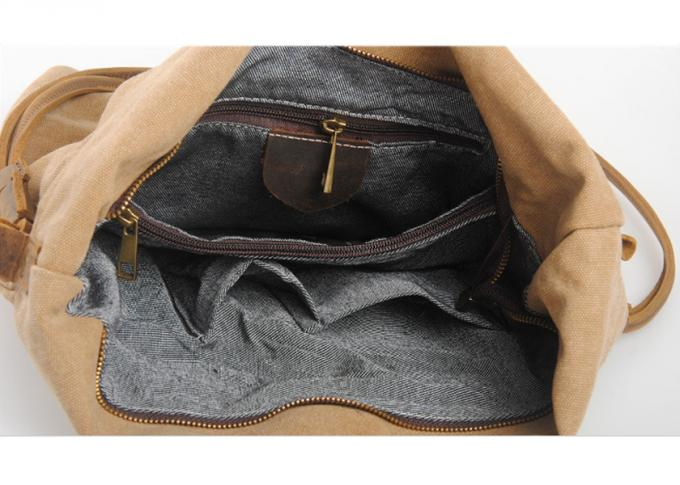 Custom Canvas Bag High Quality Gray Mens Canvas Messenger Bag