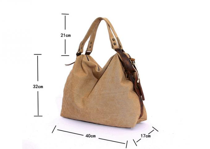 European and American Style Canvas Shoulder Bag Classic Canvas Crossbody Bag