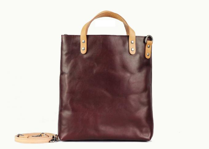 Brown Vintage Leather Tote Bag for Lady Soft Vegetable Leather Crossbody Bag