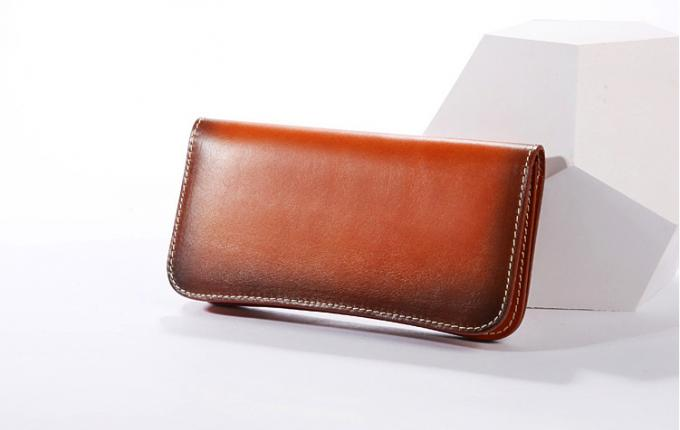 Vintage Leather Wallets for Women Classical Long Leather Wallets for Men