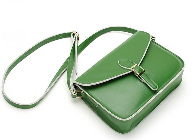 2017 Hot Selling Vintage Green Genuine Leather Ladies Handbag