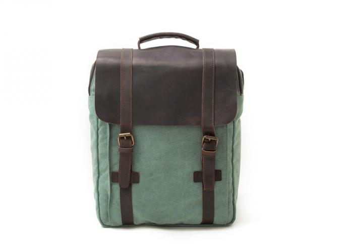CL-500 Blue Hot Sale Vintage Canvas and Leather Backpack
